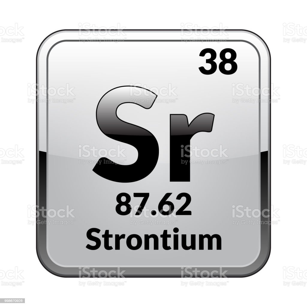 The Periodic Table Element Strontiumvector Stock Vector Art More