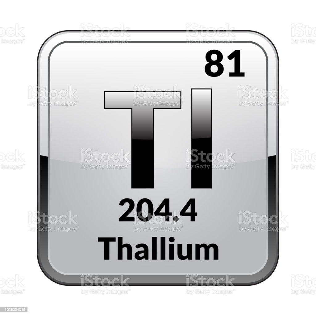 The Periodic Table Element Thallium Vector Illustration Stock Vector