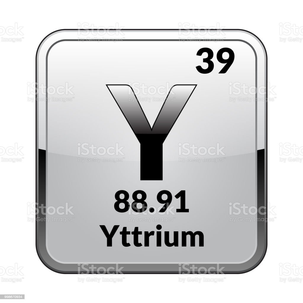 The Periodic Table Element Yttriumvector Stock Vector Art More