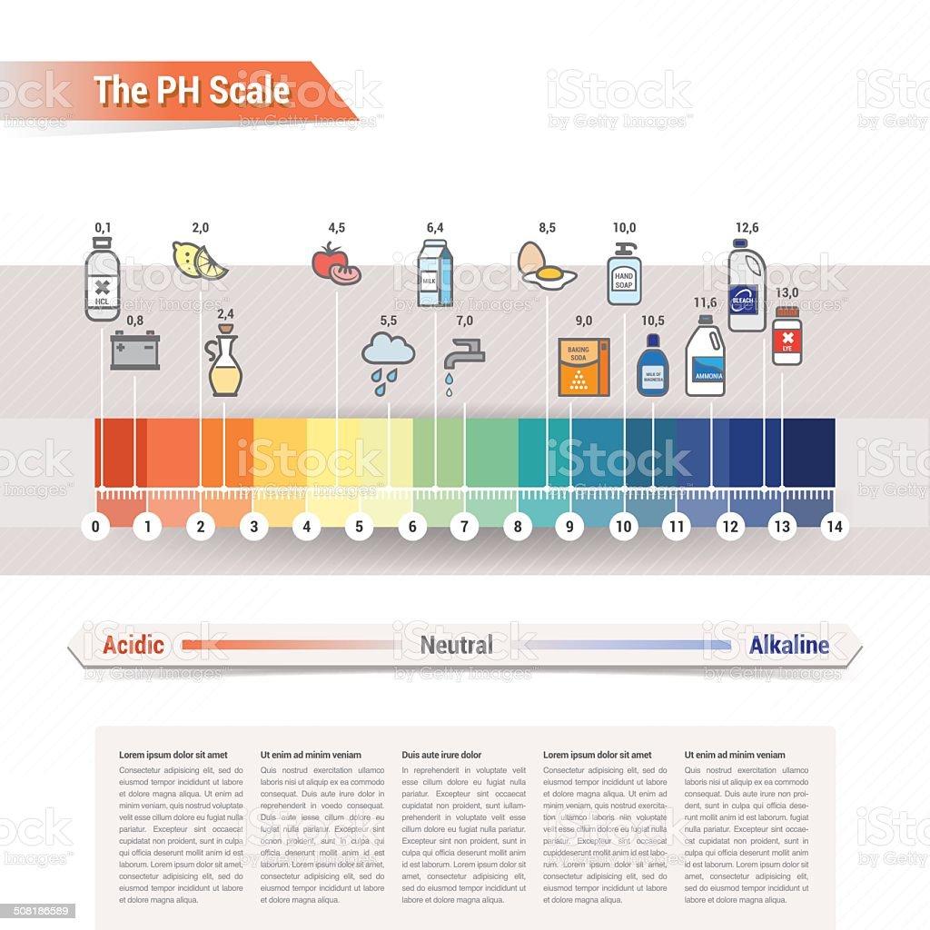 The PH scale vector art illustration