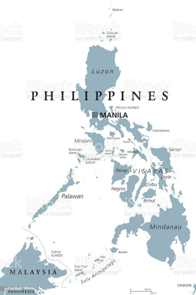 The Philippines Political Map Stock Illustration - Download Image ...