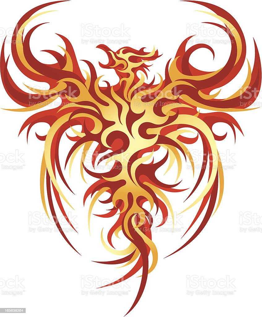 The Phoenix royalty-free stock vector art