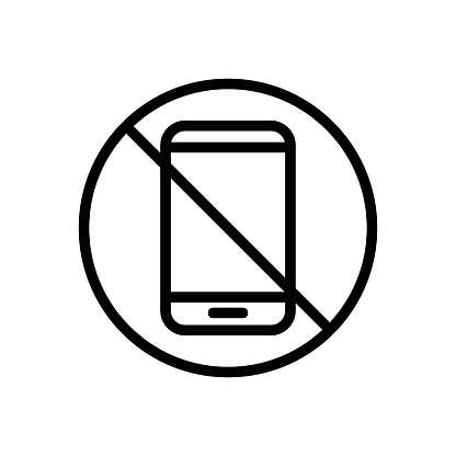 The phone is banned icon vector. Isolated contour symbol illustration