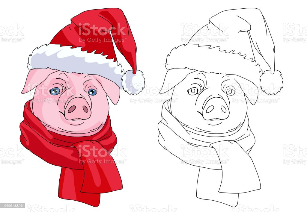 the pig head christmas coloring book royalty free the pig head christmas coloring book