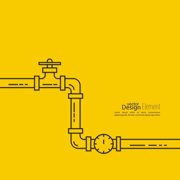 bildbanksillustrationer, clip art samt tecknat material och ikoner med the pipeline with a stopcock - water pipes