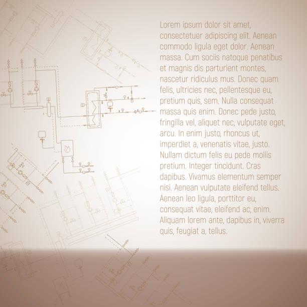 die rohrleitungen des kessels condensing. rohre, ventile, hydraulische hand-vektor-illustration. - kondensation stock-grafiken, -clipart, -cartoons und -symbole