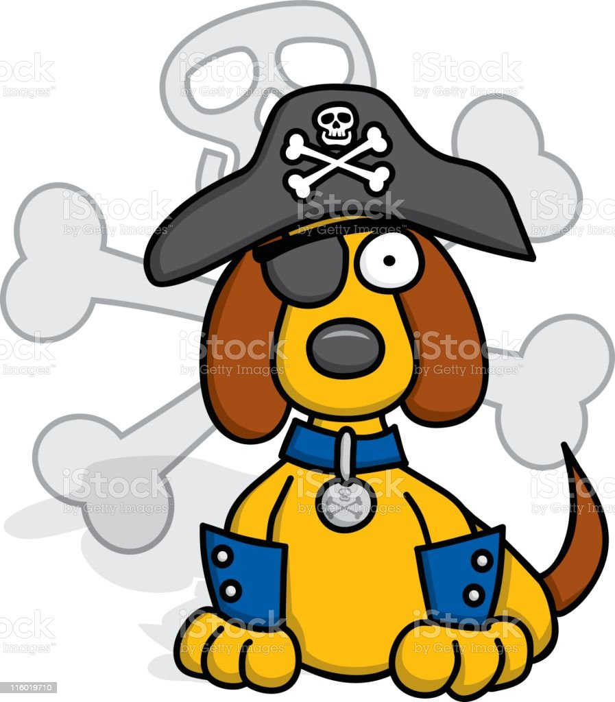 The Pirate Puppy royalty-free stock vector art