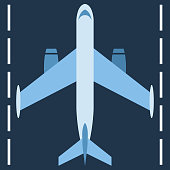 The plane is on the road