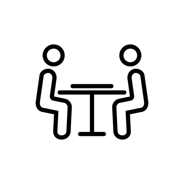 the players at the table icon vector outline illustration the players at the table icon vector. the players at the table sign. isolated contour symbol illustration backgammon stock illustrations