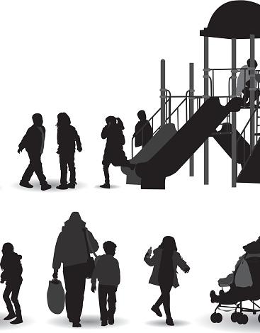 The playground silhouette