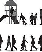 The playground silhouette.