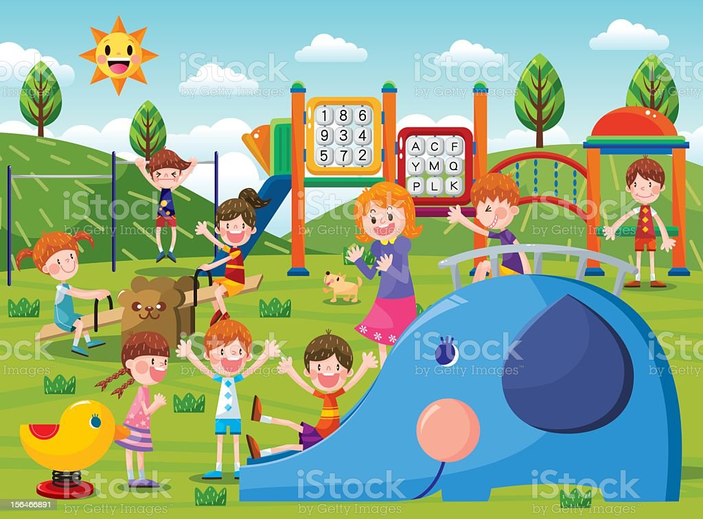 The playground vector art illustration