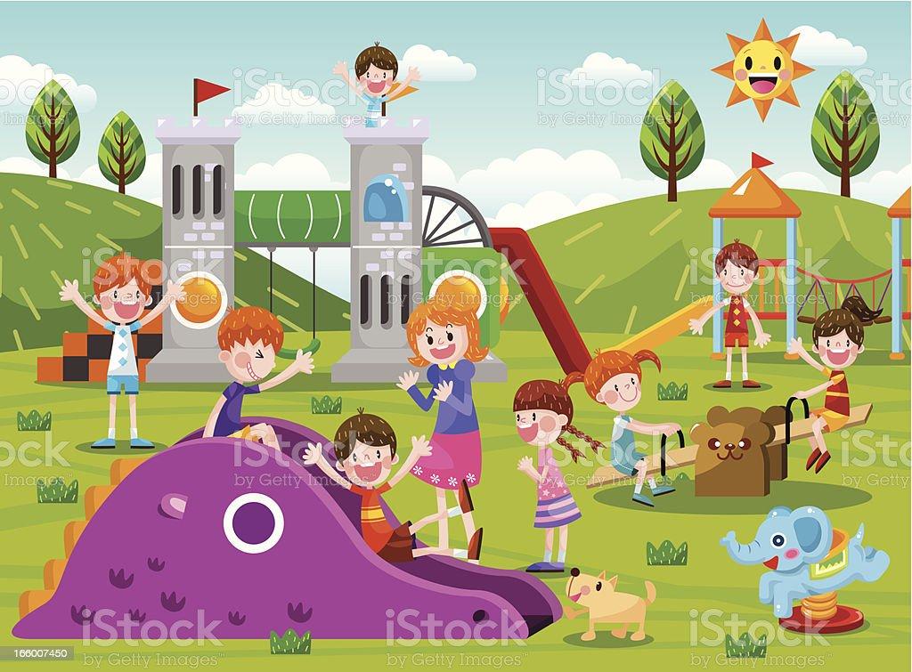 O playground - ilustração de arte em vetor