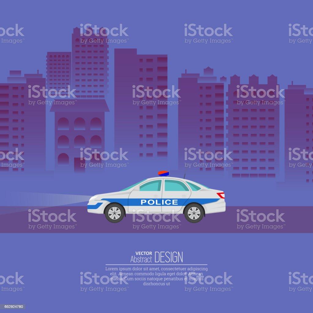 The police car vector art illustration