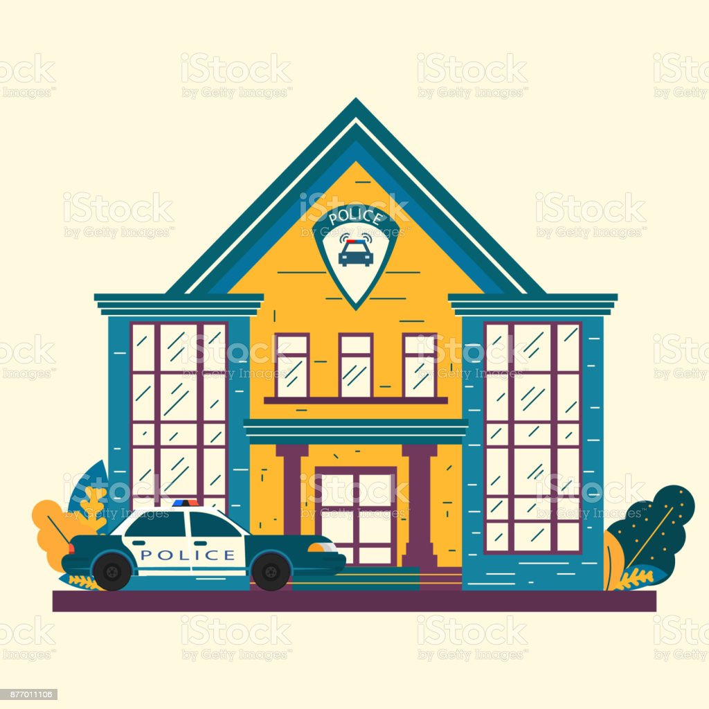 the police facade of the building police station and department rh istockphoto com police department clip art police station symbol clip art