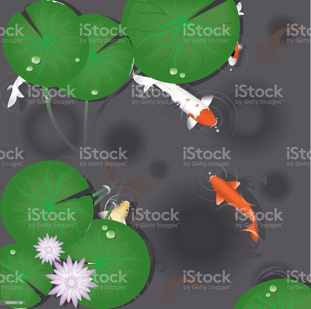 The Pond vector art illustration