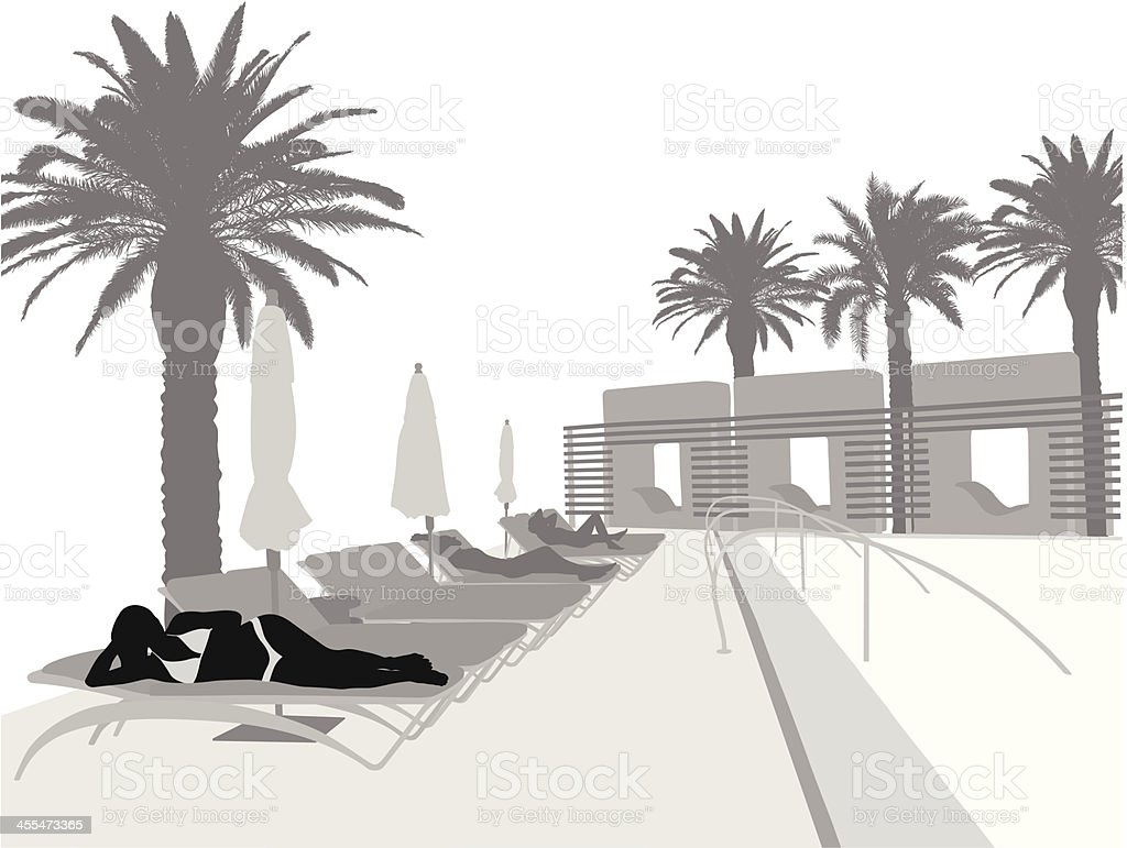 The Pool Vector Silhouette royalty-free stock vector art
