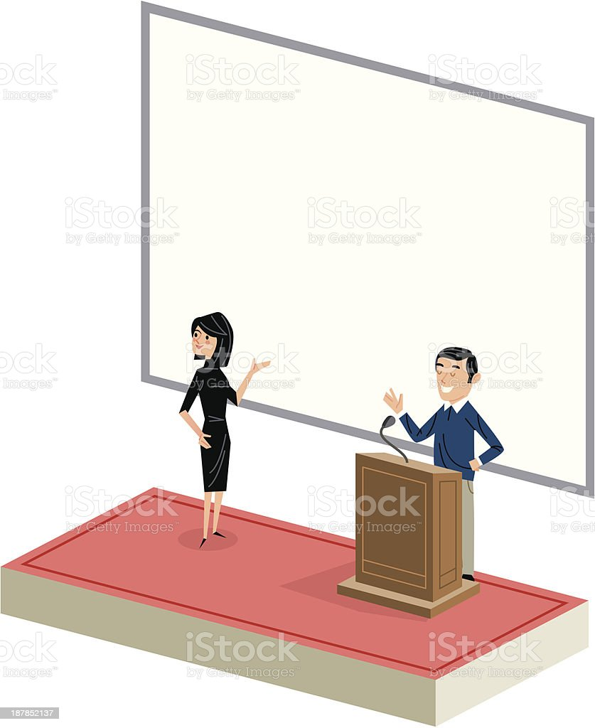 The presentation royalty-free stock vector art