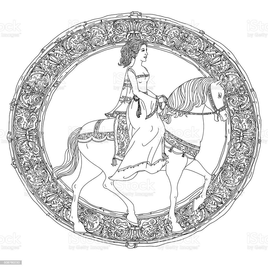 the prince de un cuento de hadas - ilustración de arte vectorial
