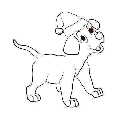 santa animal coloring pages - photo#1