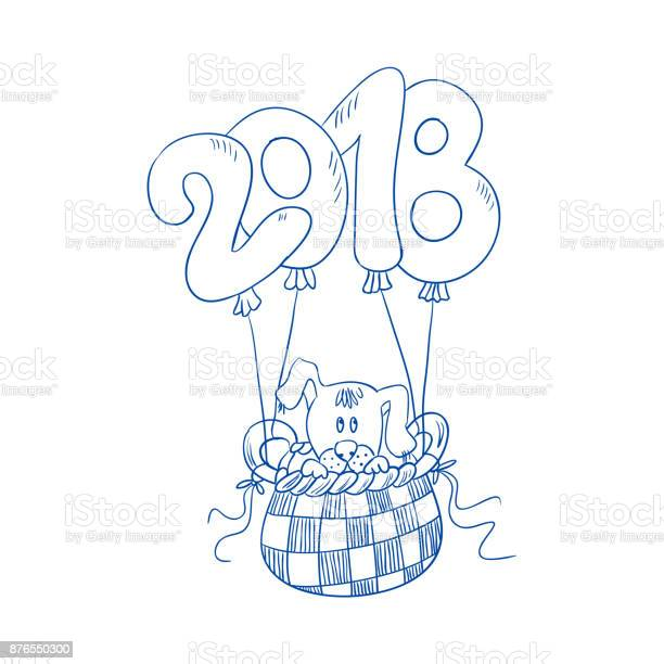 The puppy is flying in the basket of the balloon of figures 2018 s vector id876550300?b=1&k=6&m=876550300&s=612x612&h=6jdzjse1wvzqy0xqwgbbtcfm62ikrbaggv2zlcsgv6k=