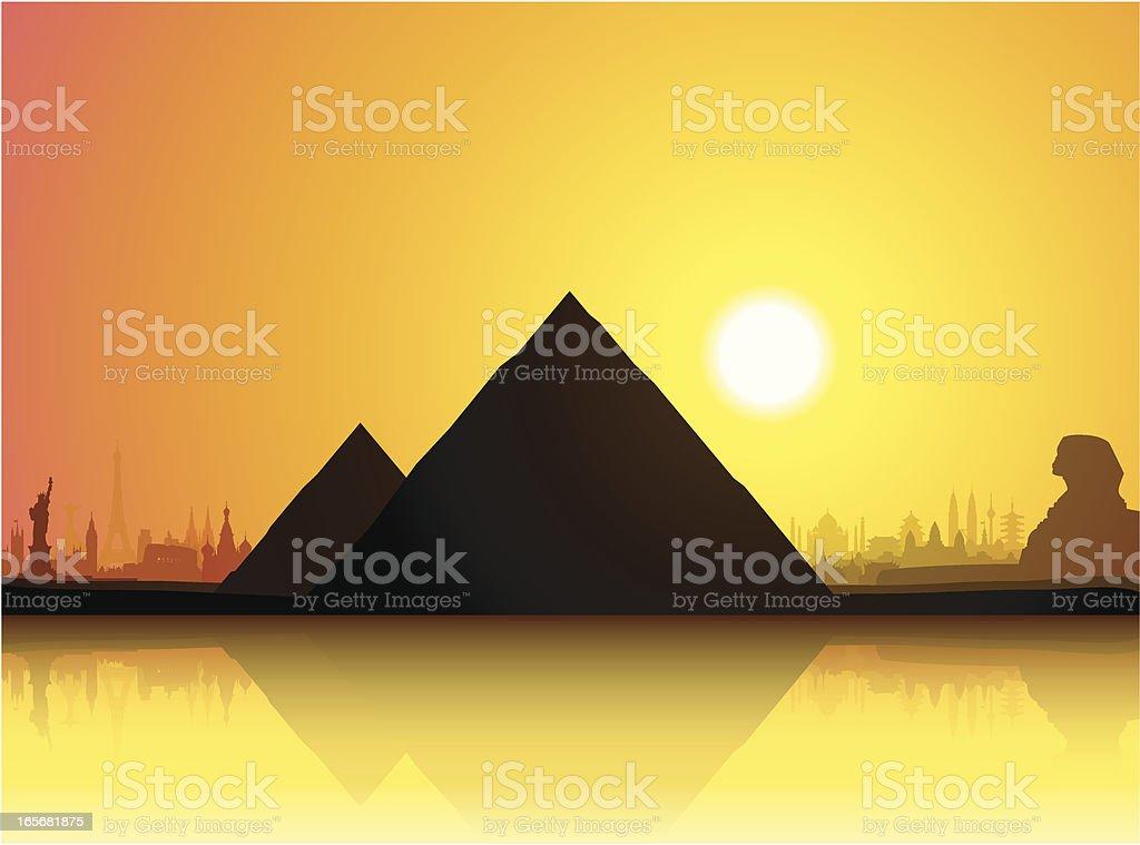 The Pyramids vector art illustration