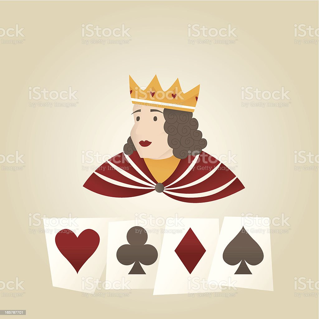 The Queen And Her Favourite Cards royalty-free the queen and her favourite cards stock vector art & more images of adult