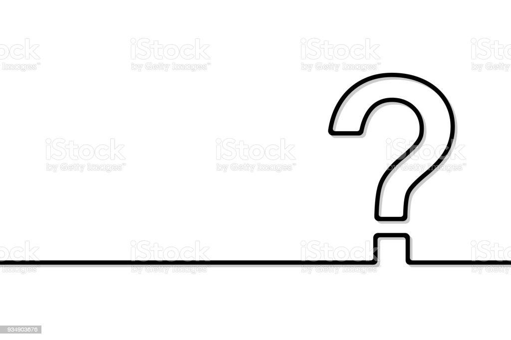 The question mark vector art illustration
