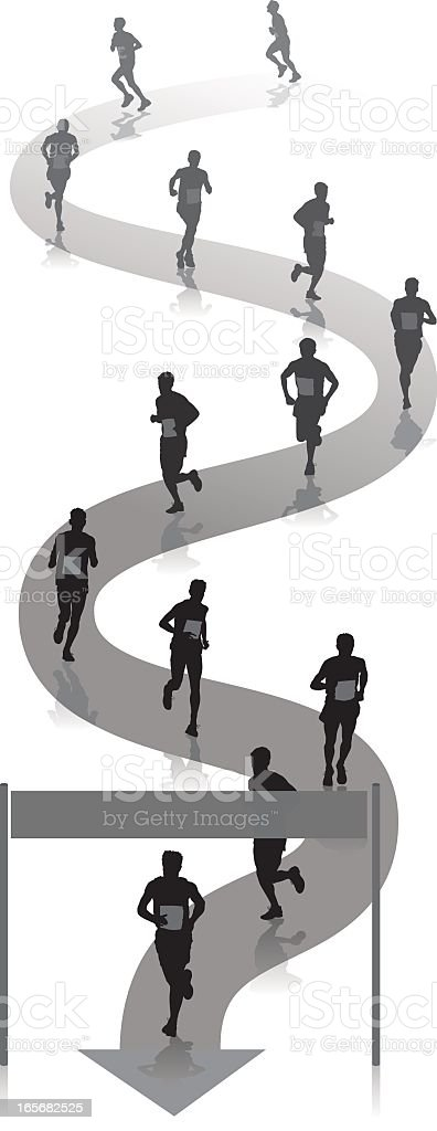 The race royalty-free stock vector art