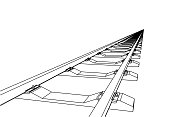 istock The railway going forward. 3d vector illustration on a white 1202779794