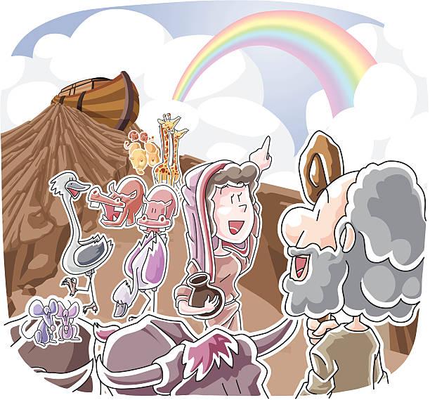 The rainbow of God's promise vector art illustration