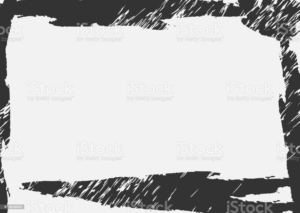 El Fondo Horizontal Rectangular Con Marco Rayado Grunge - Arte ...