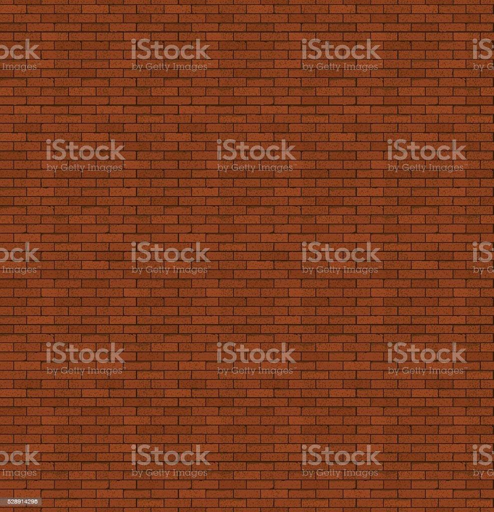 Les briques rouges. Vieille maçonnerie. Arrière-plan de couleur vive. - Illustration vectorielle