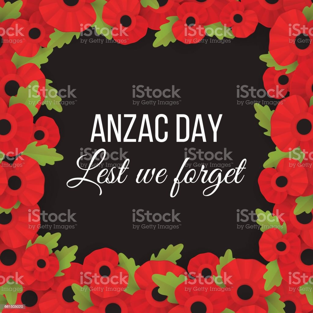 The remembrance poppy - poppy appeal. vector art illustration