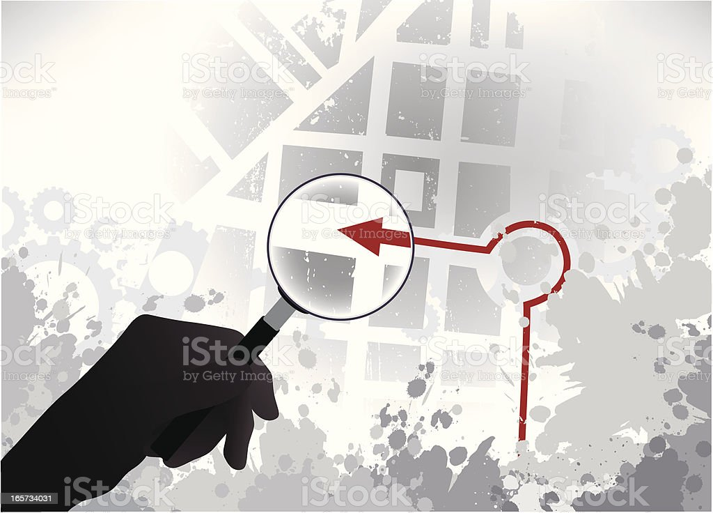 The Right Location royalty-free stock vector art