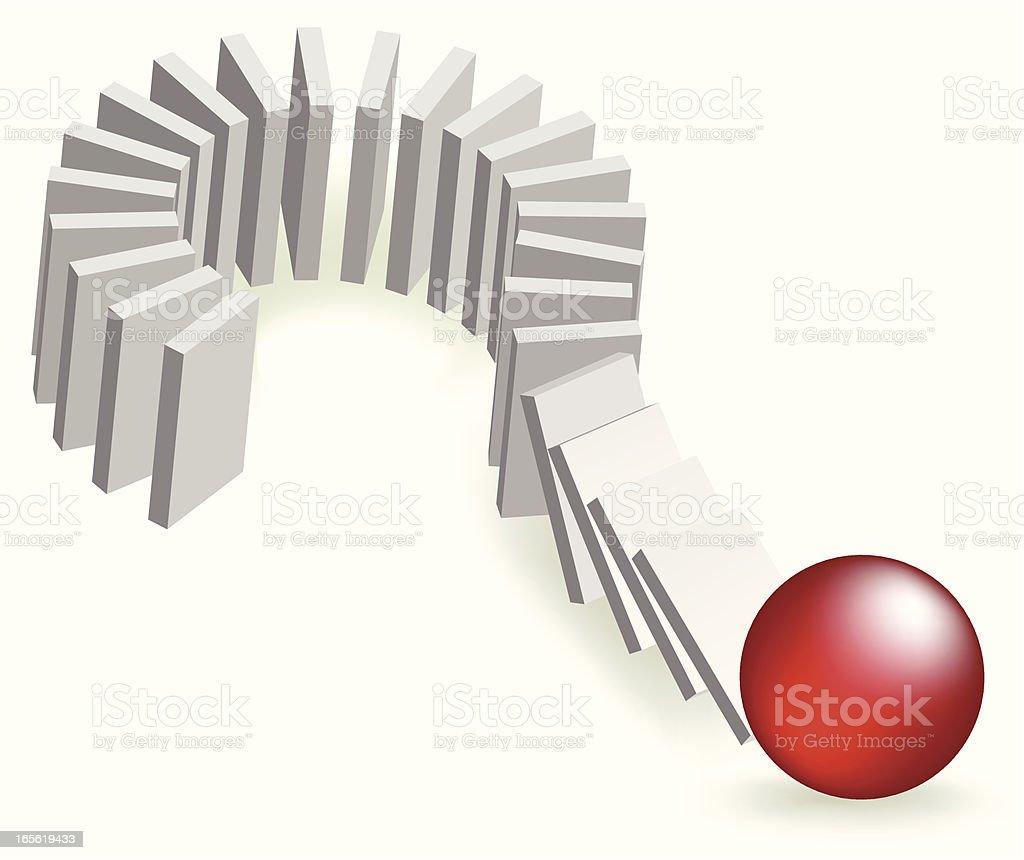 The risk of domino effect vector art illustration