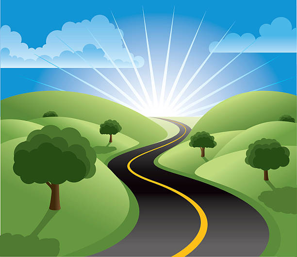 royalty free rural road clip art vector images illustrations istock
