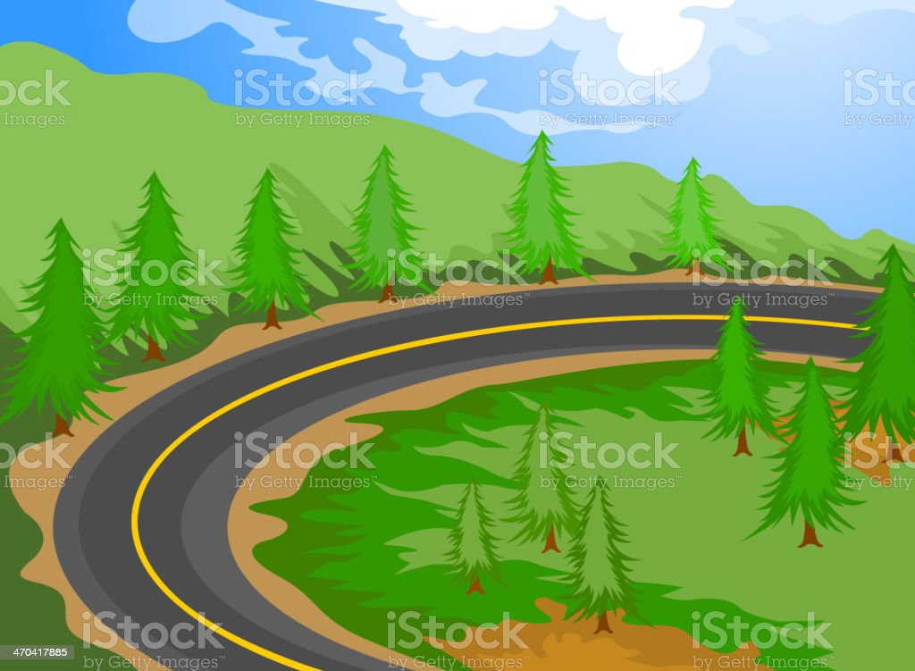 the road royalty-free stock vector art