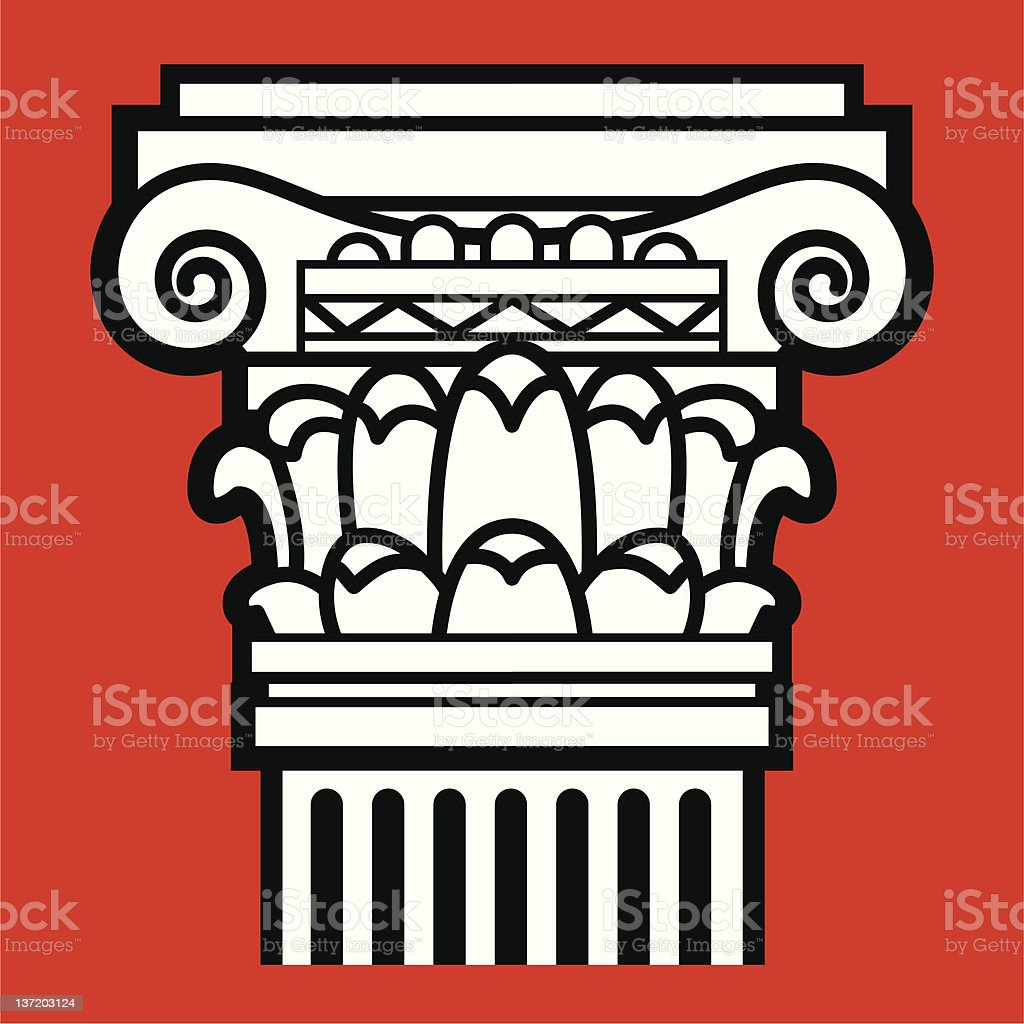 The Roman column vector art illustration