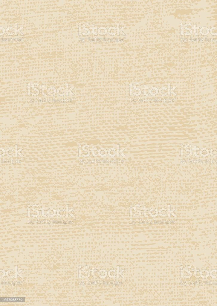 The rough texture of the fabric.