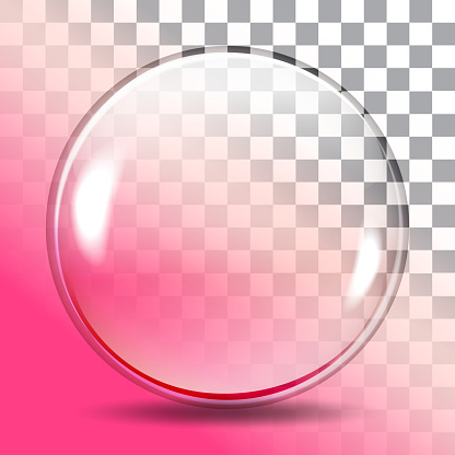 The round glass on a transparent background, design object, vector illustration
