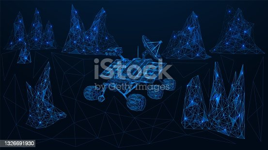 istock The rover is exploring the planet. 1326691930
