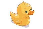 Illustration of a rubber duck.