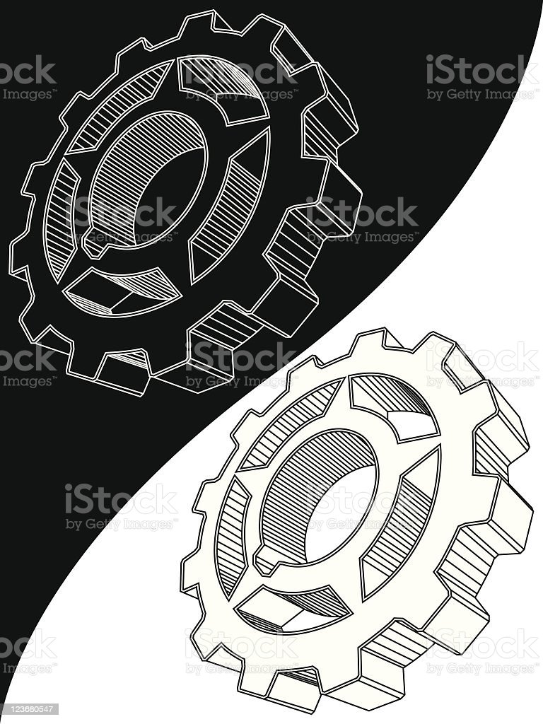 The scheme of a gear royalty-free the scheme of a gear stock vector art & more images of black color