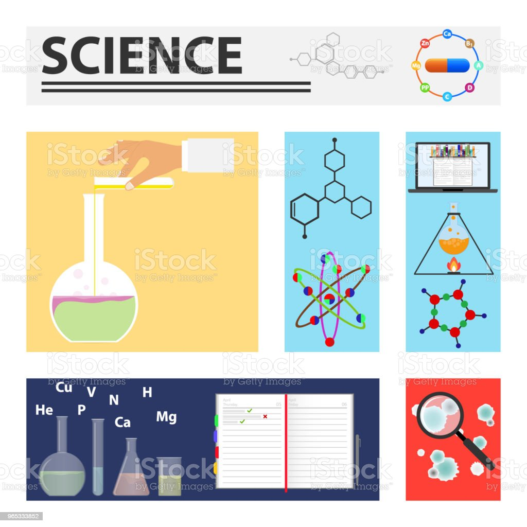 The science. Elements of scientific research. royalty-free the science elements of scientific research stock vector art & more images of abstract