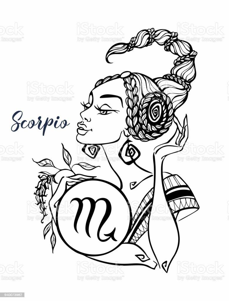 Ilustración De El Signo Astrológico De Escorpio Como Una