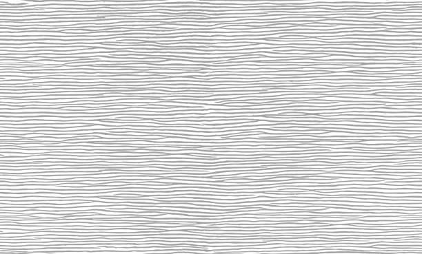 stockillustraties, clipart, cartoons en iconen met het naadloze patroon van grijze lijnen. - golvend haar