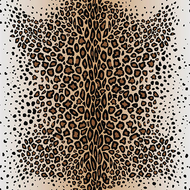 the seamless vector pattern leopard`s skin - leopard texture stock illustrations, clip art, cartoons, & icons