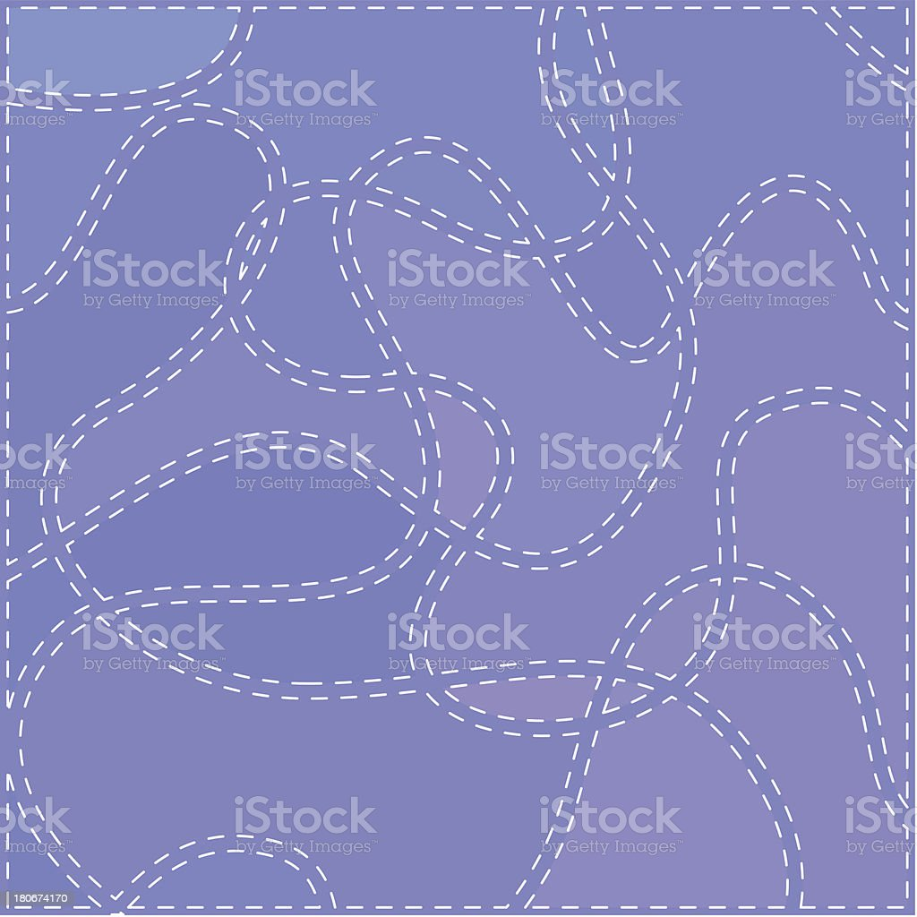 The Seams on Blue Fabric royalty-free stock vector art