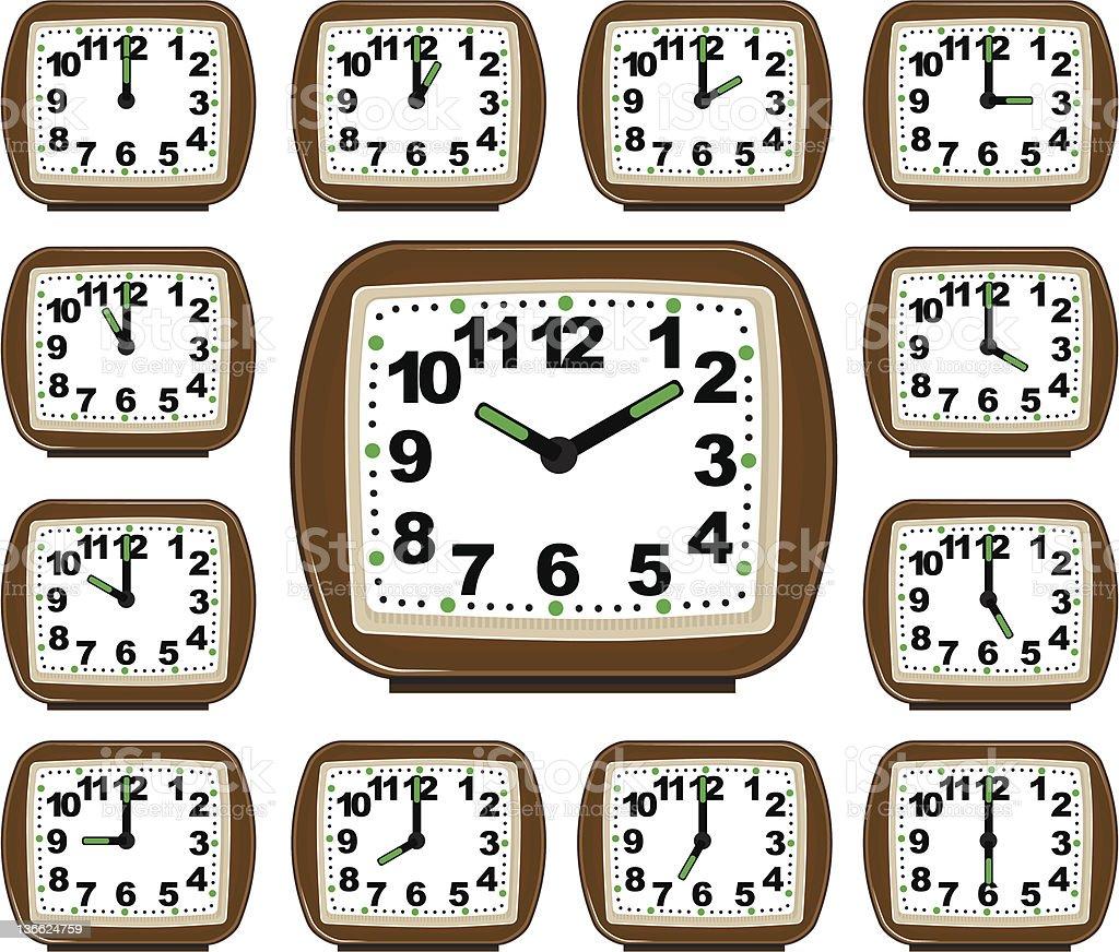 The Set Clock Time vector art illustration